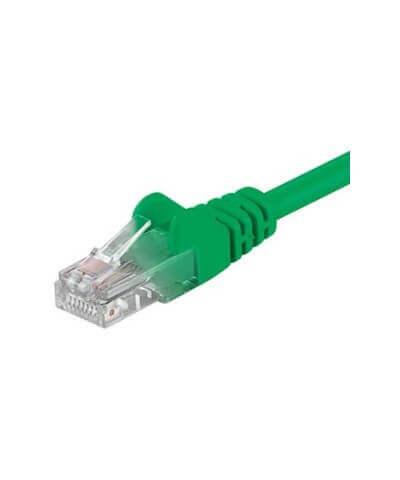 UTP-kabel - 0.25 meter CAT5e straight Groen