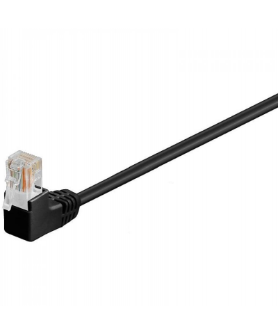 UTP-kabel - 0.25 meter CAT6 straight Zwart 2 x haaks