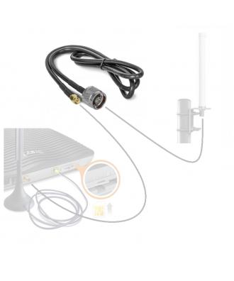 LTE antennekabel 1 meter coax N-Male naar SMA-Male