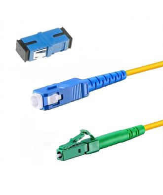 Glasvezelkabel-set BLAUW (kabel met koppelblok)