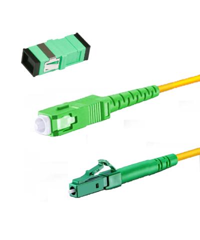 Glasvezelkabel-set GROEN (kabel met koppelblok)