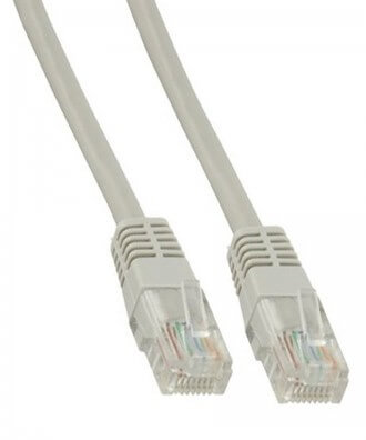 UTP-kabel - 2 meter CAT5e straight Grijs