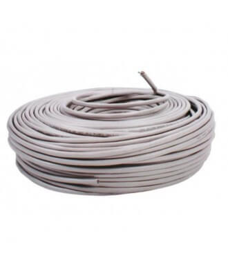 UTP-kabel - rol 100 meter CAT5e straight Grijs